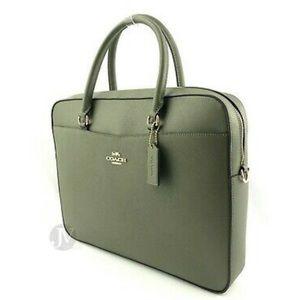 NWT ✨ Coach Leather Laptop Bag / Briefcase w strap